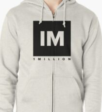1 MILLION Dance Studio Logo (Black Version) Zipped Hoodie