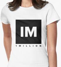 1 MILLION Dance Studio Logo (Black Version) Women's Fitted T-Shirt