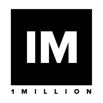1 MILLION Dance Studio Logo (Black Version) by gdragon88