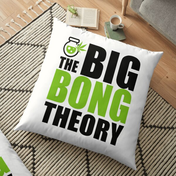 The Big Bong Theory Cannabis Water Pipe Gift Floor Pillow