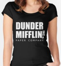 Dunder Mifflin Women's Fitted Scoop T-Shirt