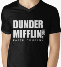 Dunder Mifflin Men's V-Neck T-Shirt