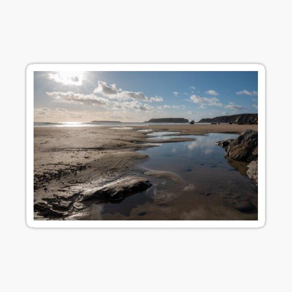 Skomer Island from Marloes Sands, Pembrokeshire Sticker