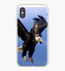 Trump Riding Eagle iPhone Case