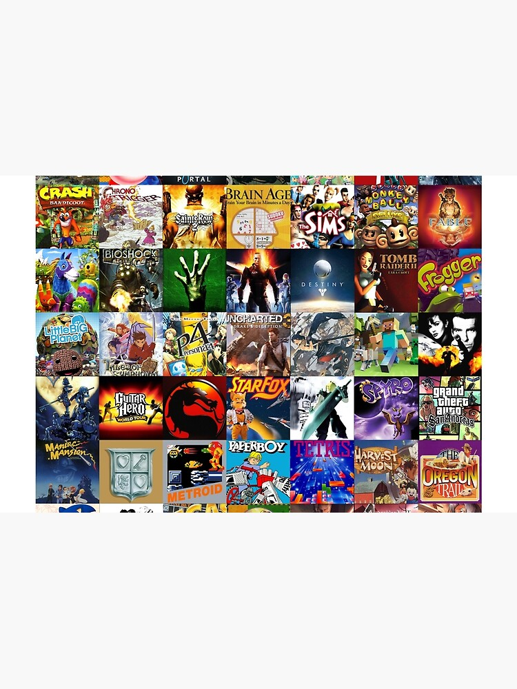 Download Artwork Video Game Collage Gif