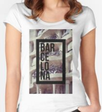 Casa Milá La Pedrera Barcelona  Photography Women's Fitted Scoop T-Shirt