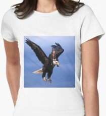 Trump Riding Eagle Women's Fitted T-Shirt