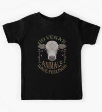GO VEGAN - ANIMALS HAVE FEELINGS Kids Tee