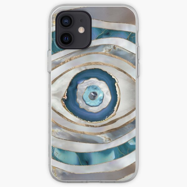 Evil Eye Mineral textures and gold iPhone Soft Case