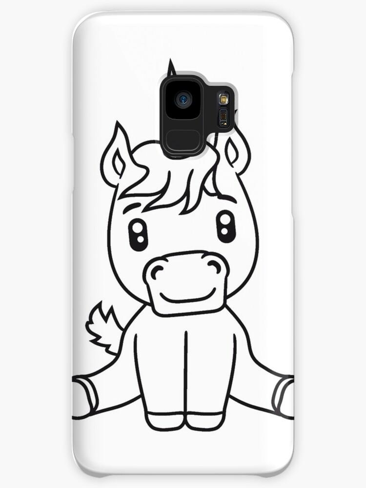 Unicorn Foal Unicorn Sweet Cute Sitting Comic Cartoon Pony Horse