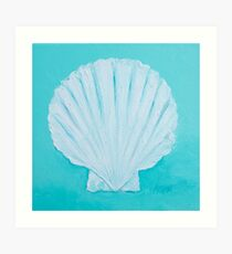 Scallop shell painting Art Print