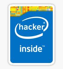 Hacker Inside (Modern) Sticker