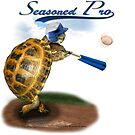 Tortoise Baseball Player - Seasoned Pro by LuckyTortoise