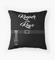 Keeper of the Keys: With Words Throw Pillow