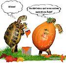 Tortoise in Pumpkin Halloween Costume by LuckyTortoise