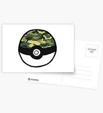 Camo Pokeball Postcards