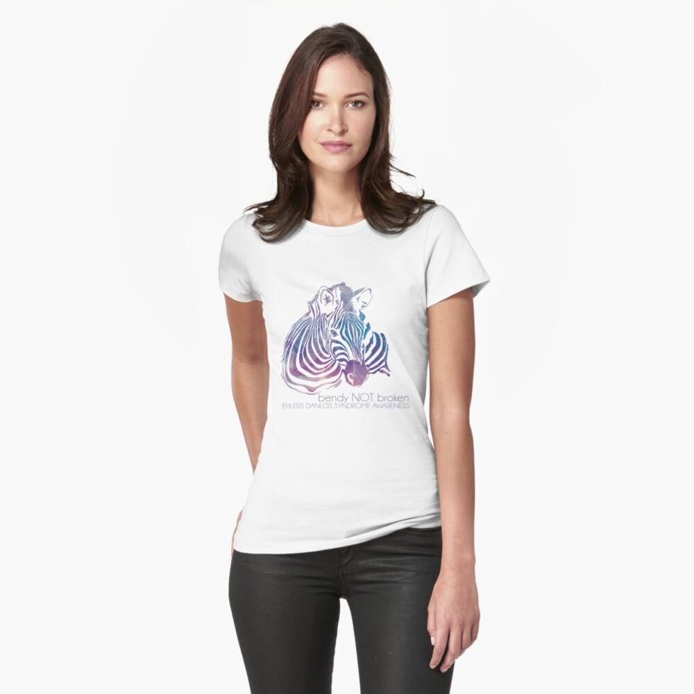 bendy NOT broken (EDS awareness Fitted T-Shirt