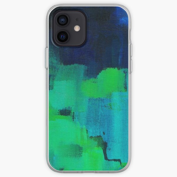 Blue and green abstract iPhone Soft Case