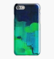 Blue and green abstract iPhone Case/Skin