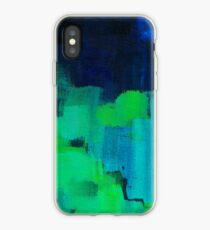 Blue and green abstract iPhone Case
