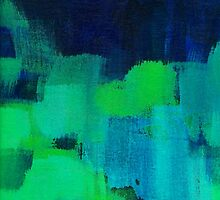 Blue and green abstract by SaryandSaff