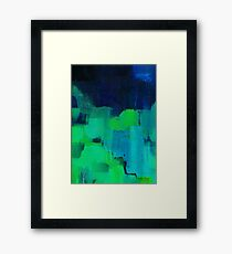 Blue and green abstract Framed Print