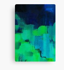Blue and green abstract Canvas Print
