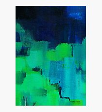 Blue and green abstract Photographic Print