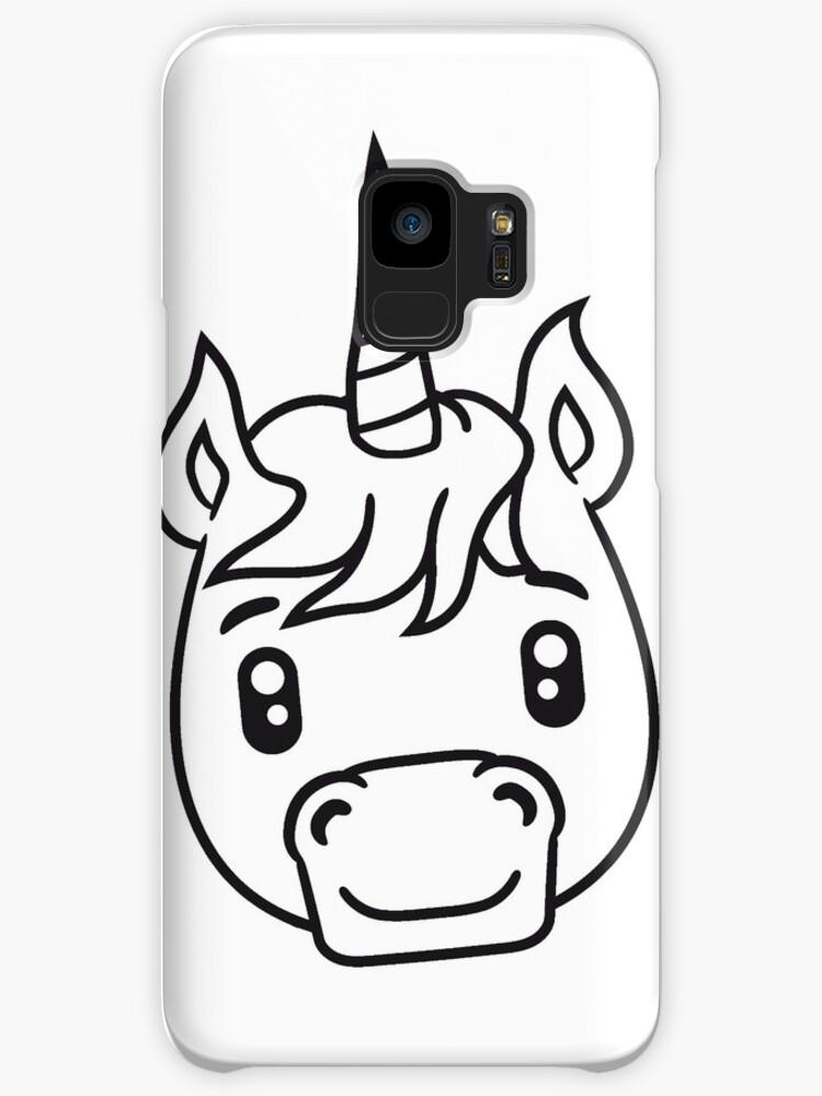 Unicorn Unicorn Face Head Sweet Cute Sitting Comic Cartoon Pony