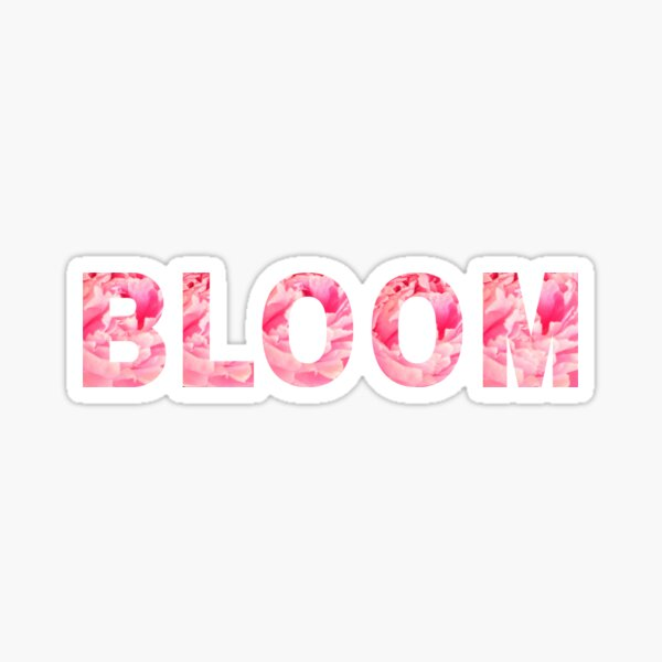 Pink Peony Bloom | FLOWER WORDS  Sticker