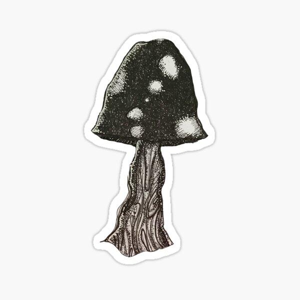 spotty mushroom Sticker