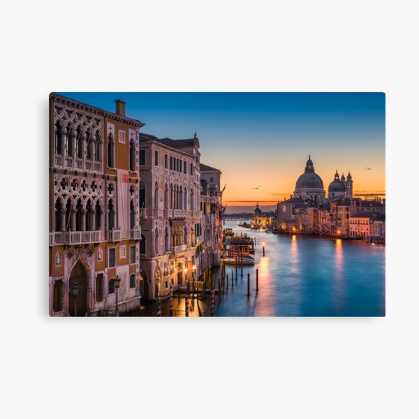 Sunrise at the Grand Canal Canvas Print