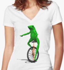 Dat Boi Women's Fitted V-Neck T-Shirt