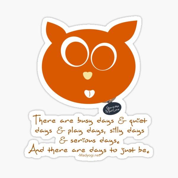 Yogi Kitty Sticker