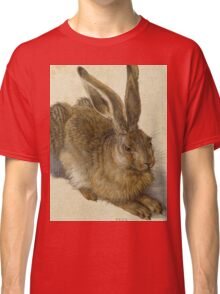 Albrecht Durer - Hare 1502. Young hare painting: cute hare,  hares,  rabbits,  animals,  bunnies,  realistic ,  wild,  animal,  rabbit,  wild animals,  fur  Classic T-Shirt