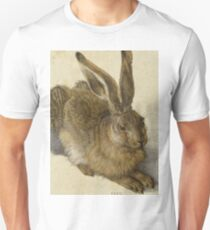 Albrecht Durer - Hare 1502. Young hare painting: cute hare,  hares,  rabbits,  animals,  bunnies,  realistic ,  wild,  animal,  rabbit,  wild animals,  fur  T-Shirt
