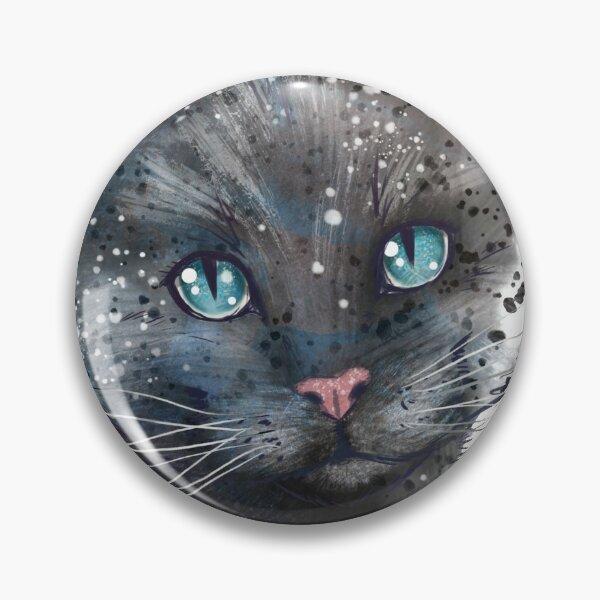 Cat watercolor Pin