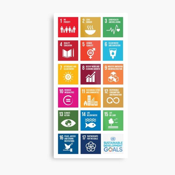 UN SDGs | UN Global Goals Logo | United Nations Sustainable Development Goals 2030 Metal Print