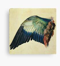 Vintage famous art - Albrecht Durer - Wing Of A Blue Roller Canvas Print