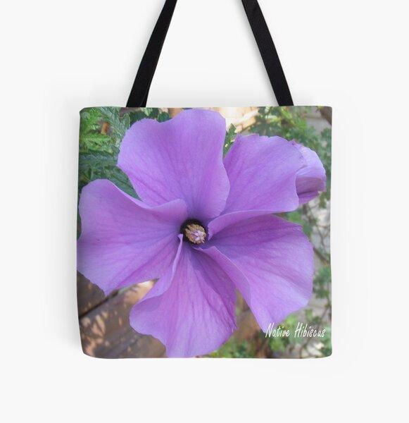 Native hibiscus alyogyne huegeli All Over Print Tote Bag