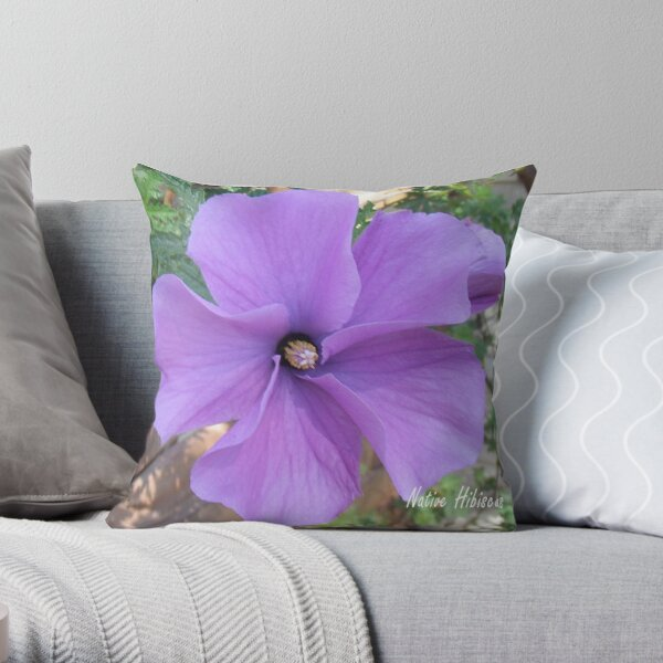 Native hibiscus alyogyne huegeli Throw Pillow