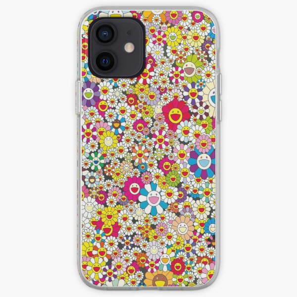 Collage Flower Colourfull  iPhone Soft Case
