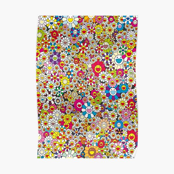 Collage Flower Colourfull  Poster