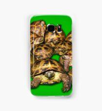 Greek Tortoise Group on Bright Green Background Samsung Galaxy Case/Skin
