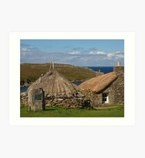 Blackhouse Village (1) Art Print