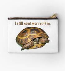 Tortoise - I still need more coffee Studio Pouch