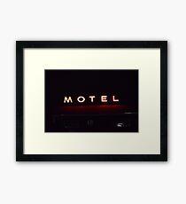 motel neon Framed Print
