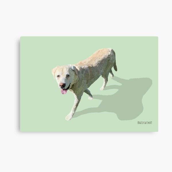 Yellow Dog Painting Canvas Print