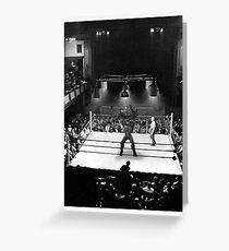 Spartan Boxing Greeting Card
