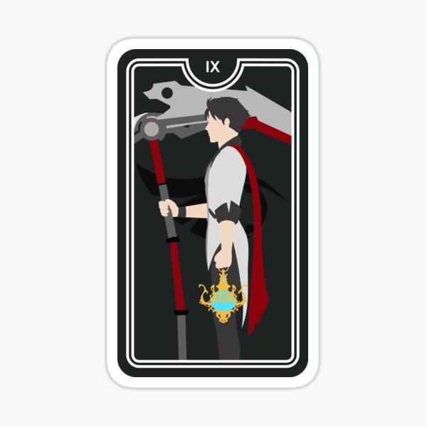 Qrow Branwen Hermit Tarot Card Sticker